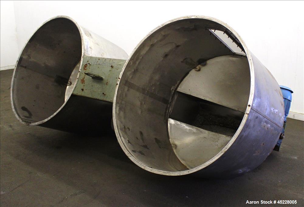 Used- Dual Hopper Crammer Feeder, 304 Stainless Steel.
