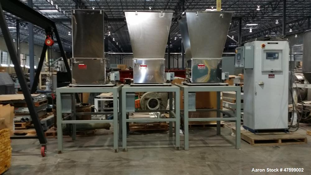 Used- Brabender Feeder. Max. exterior hopper volume cubic feet - 23. Max. feed rate for cubic feet per hour is 407. Separate...