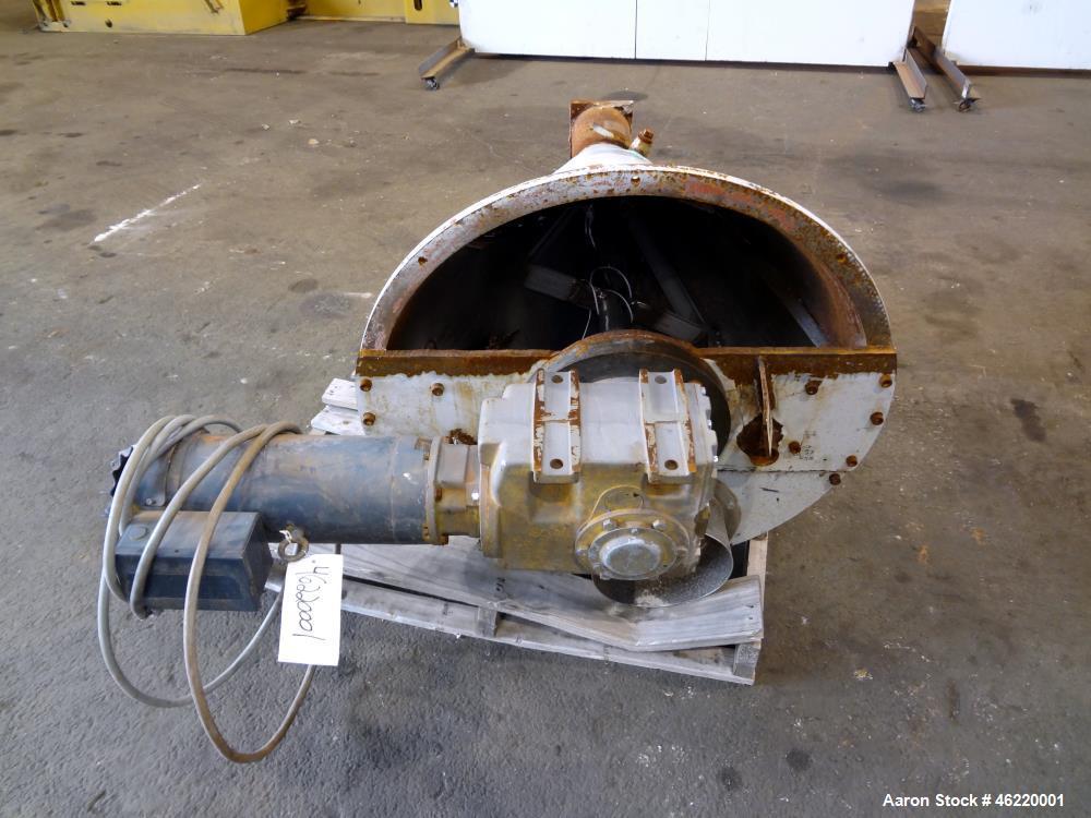 """Used- Cincinnati Milacron Crammer Feeder. Approximately 5"""" diameter 304 stainless steel vertical feed screw. Carbon steel sl..."""