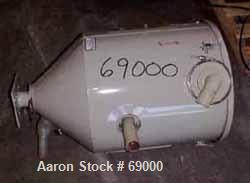 "Used: Conair dry hopper, model 18055501, carbon steel. 100 lb capacity, 16"" diameter x 19"" straight side x 11"" cone bottom. ..."