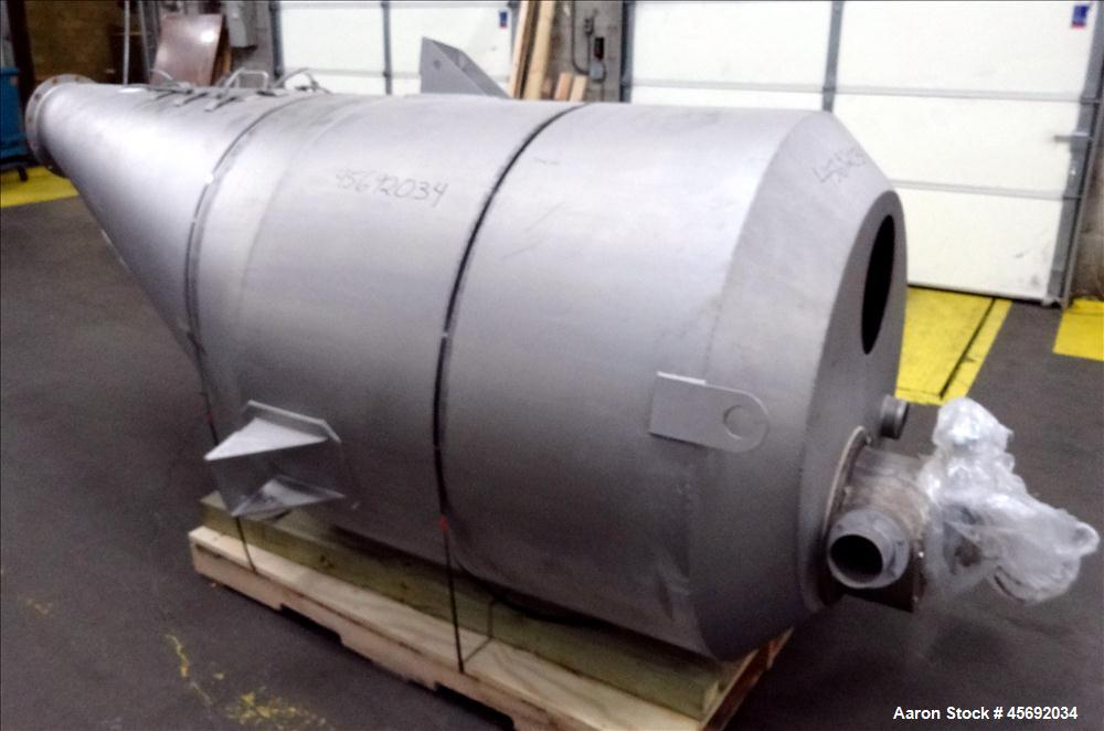 Used- Shick Tube-Veyor Corporation Scale Hopper, Model Eccentric, Stainless Steel. Approximately 73.7 cubic feet. Equipped w...