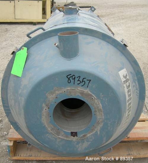 "Used- Whitlock Insulated Drying Hopper, 800 pound capacity, model DH-800F, carbon steel. Approximately 30"" diameter x 48"" st..."