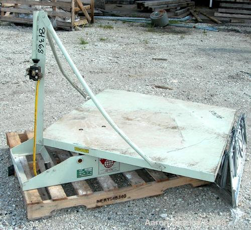 "USED: IMS low profile Gaylord platform tilter, model 25-5000, 2000pound capacity. 44"" x 44"" bed. Operation 20-100 psi air re..."