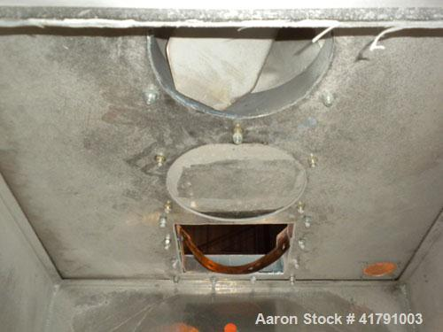 "Used- Premier Pneumatics Regrind Return Bin, Approximately 16 Cubic Feet, Aluminum. 36"" wide x 36"" long x 22"" deep x 25"" con..."