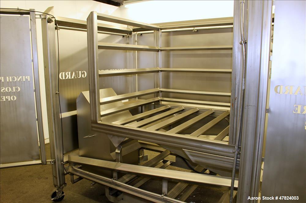 Used- Tote Tilter/Dumper, 304 Stainless Steel.