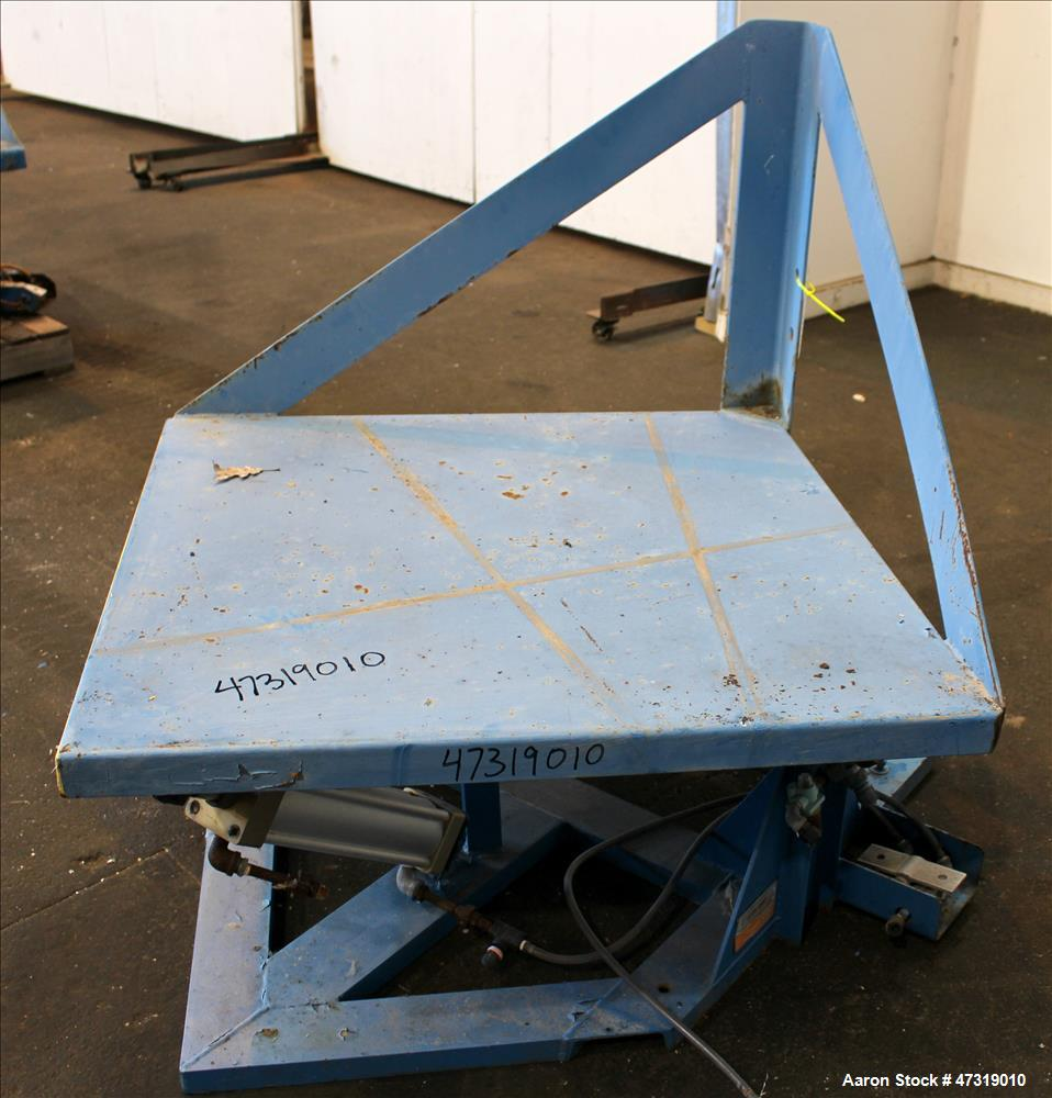 "Used- Conair/Franklin Gaylord Raised Platform Box Tilter, Model 120004. Capacity 1,200 lbs. 40-1/2"" X 40-1/2"" Platform. Tilt..."