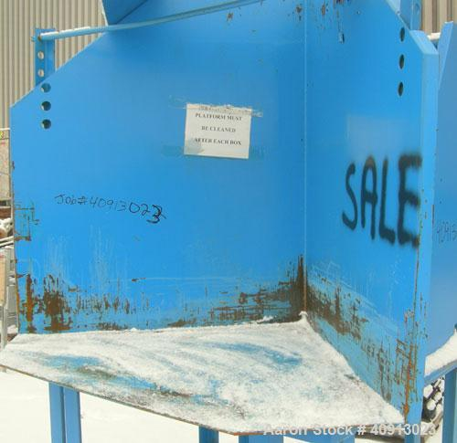 """Used- EagleHydraulic GaylordDumper, carbon steel.Approximate 48"""" x 48""""x 48"""" tall bed.Driven by a 2 hp hydraulic power p..."""