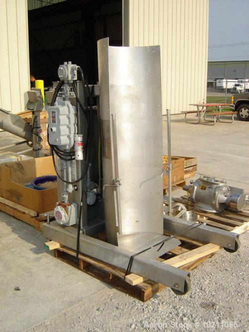 Used-Hercules Model HI-114-B5165 Stainless Steel Hydraulic Drum Dumper. Capacity 750 pounds and comes complete with explosio...