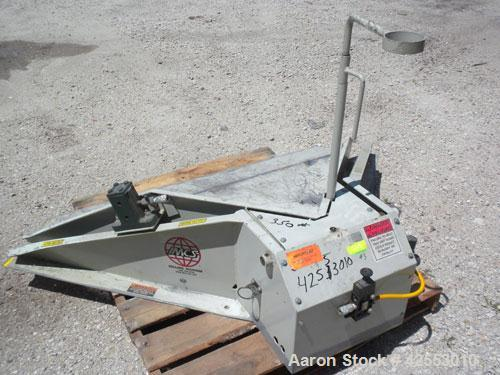 "Used- IMCS Floor Level Pneumatic Tilt-Table, model 25-6000VP, carbon steel, 2000 pound capacity. 44"" x 44"" Floor level entry..."