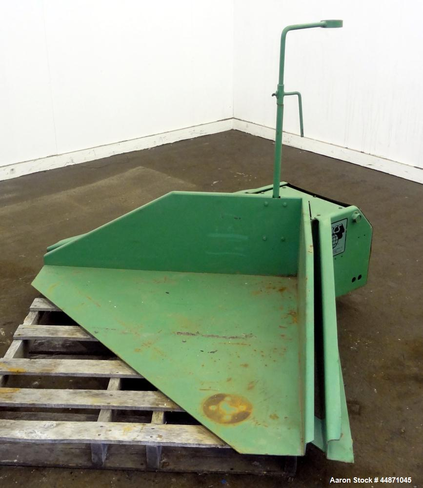 "Used- IMS Floor Level Gaylord Tilt Table, Model 25-6000, Carbon Steel. 44"" x 44"" Platform, corner tilt, 2000 pound load capa..."