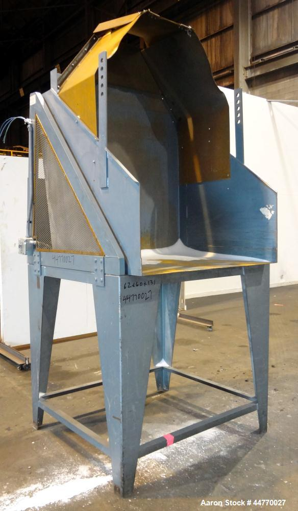 "Used- NBE National Bulk Equipment Hydraulic Gaylord Box Dumper, Model 21-210, Carbon Steel.  Appproximately 48""wide x 41"" de..."