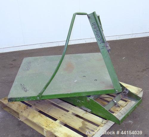 "Used- Gaylord Tilter, Carbon Steel. Approximate 44"" long x 44"" wide platform, air operated tilt. Mounted on a frame."