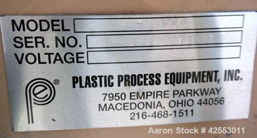 "Used- Plastic Process Equipment Floor Level Pneumatic Tilt-Table, model BT-16000, carbon steel. 2000 Pound capacity. 44"" x 4..."