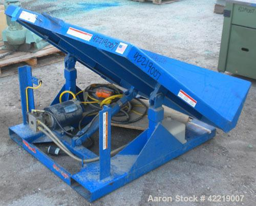 Used- T & S Equipment Tilt Table, model EMI-200-5048-4, 4000# capacity, carbon steel. Table approximately 48'' x 48''. 45 de...