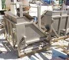 Used- Allen Machinery Dual Station Hydraulic Tote Dumper, Model D40112, 304 Stainless Steel. (2) 50