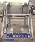 Used- Apache Stainless Box Dumper, 304 Stainless Steel. Dump area 42