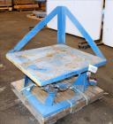 Used- Conair/Franklin Gaylord Raised Platform Box Tilter, Model 120004. Capacity 1,200 lbs. 40-1/2