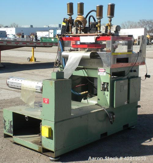 Used- Preco Industries Die Cutting Press, Model IRF-200. Platen size 21'' wide x 15-1/2'' long, distance between posts 15'' ...