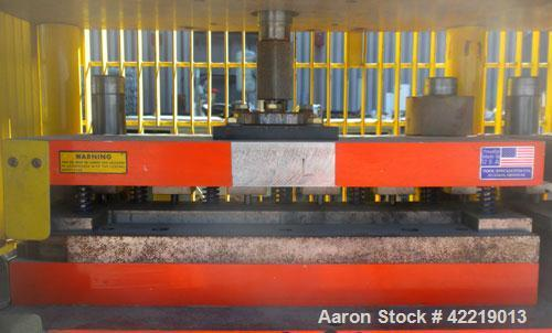 Used- Preco Industries Dual Die Cutting Press, approximately 5 tons. (2) Platens, each size 24'' wide x 12'' long. Includes ...