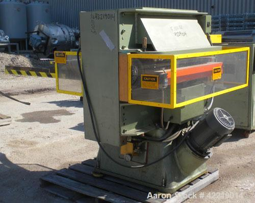 Used- Schwabe 35 Ton Hydraulic Die Cutting Press with shuttle table, model DG, floor standing. Ideal press for cutting paper...