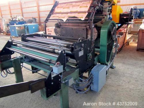 "Used- Sherwood Tool Die Cutter, Model JR6042S. 43"" x 21"", 4 post design platen. BCS Motion controls, servo driven."