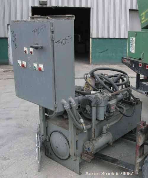 USED: Catching Fluidpower hydraulic power unit. Driven by 2 drives:(1) 15 hp, 3/60/208-230/460 volts, 1765 rpm; (1) 30 hp, 3...