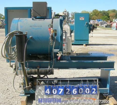 """Used- Dynisco Jet Cleaner, Model JC1724E. Approximately 20"""" diameter x 27"""" long 304 stainless steel chamber. Roll out parts ..."""