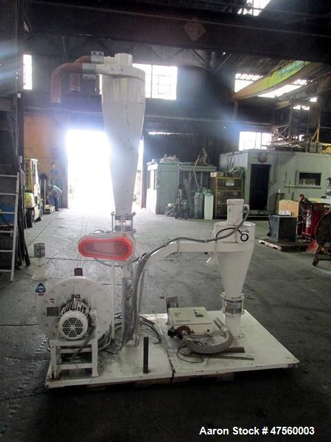 Used- Kice Aspirator System, Model 6DT8-4. Approximate 1000 pounds per hour capacity. Includes a 3hp blower, cyclone, rotary...