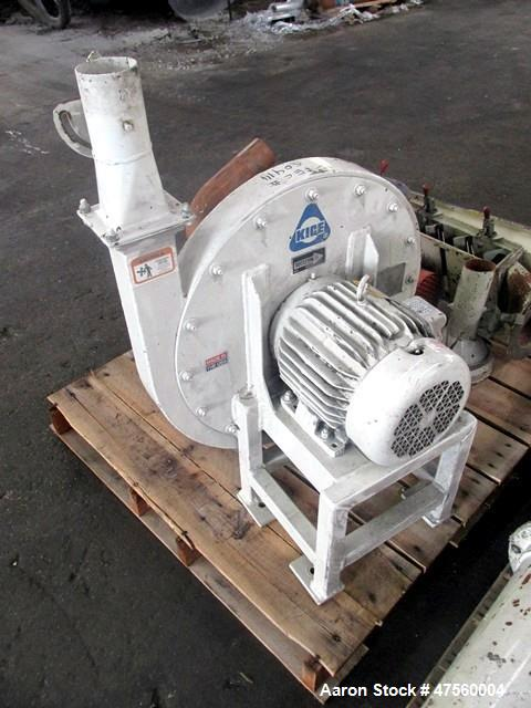 Used- Kice Aspirator System, Model 6DT8-4. Approximate 1000 pounds per hour capacity. Includes a 3hp blower, cyclone, and a ...