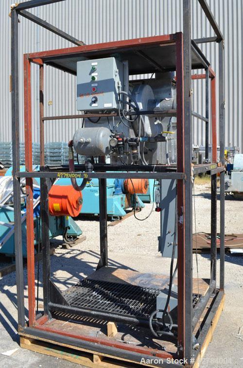 Used- Pellertron Kinetic Dedusting System consisting of: (1) Pelletron kinetic deduster, model P10, 301 stainless steel. Rat...