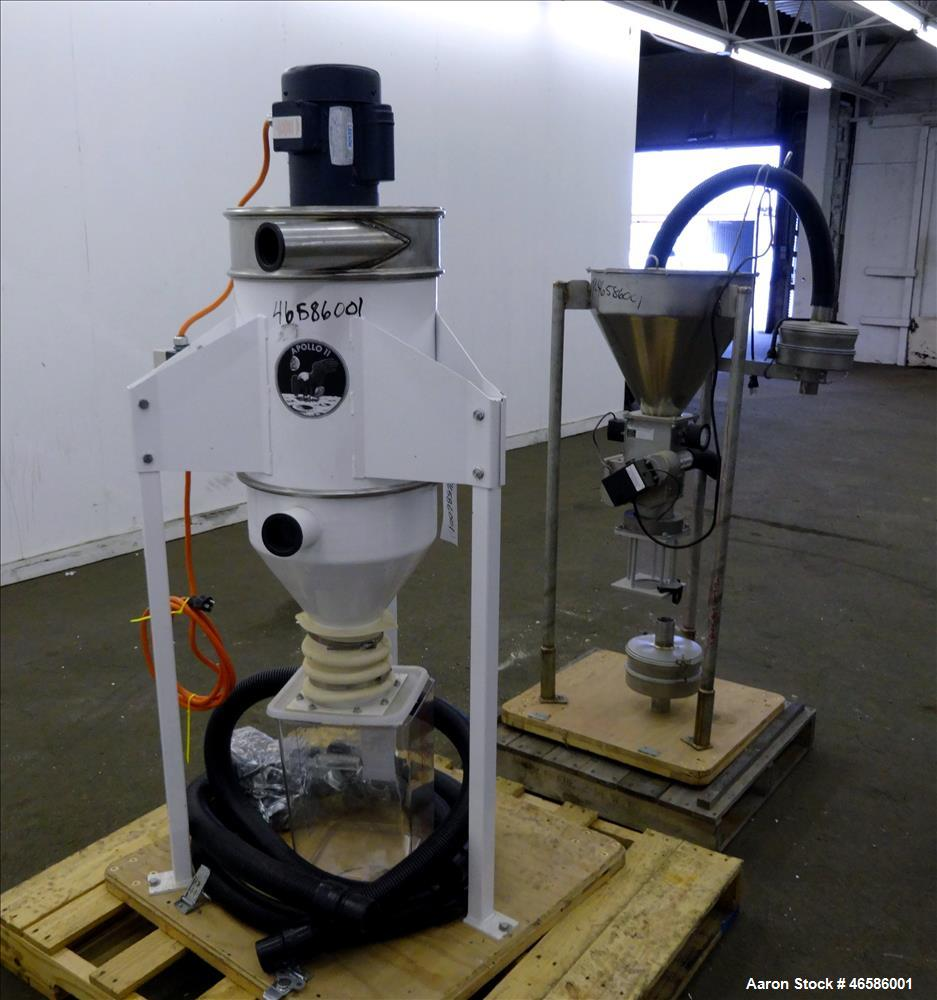 Used- Pelletron Dedusting System, Model P1, 304 Stainless Steel. Rated up to 150 pounds per hour, bulk density 32-36 pounds ...