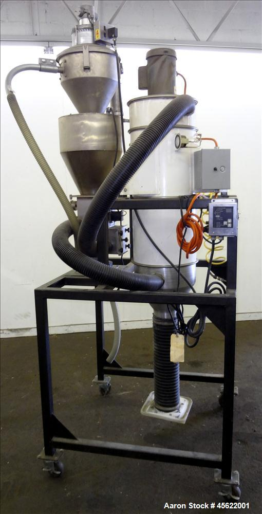 Used- Pelletron Gravity Deduster, Model P5 Hoerbiger, Carbon Steel. Capacity range approximately 100-600 pounds per hour. To...