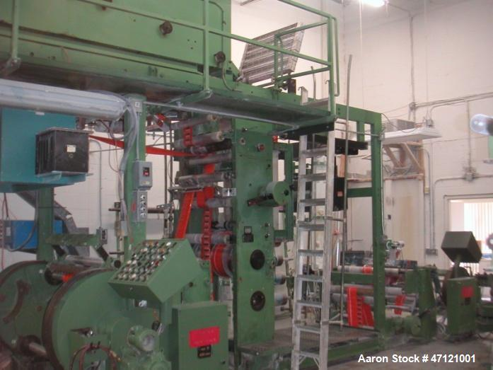 Used- Windmoller & Holscher Olympia 736 6-color Printer, Model - Olympia 736. Geared system. Printing width: 711.2 mm. Gas d...