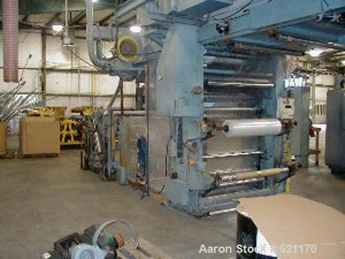 "USED: 47"" CMF model Mirage 806 6 color central impression printingpress with 47"" web width, 45.5"" print width, 12""-26"" repea..."