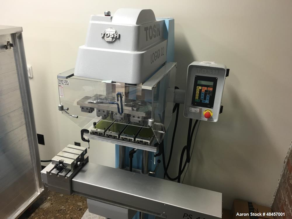 Used- Tosh Logica Pad Printer, Model L-02-4C. Four color, (4) 70mm diameter mag ink cups, (4) 70 mm CR blades, (4) 100 x 250...