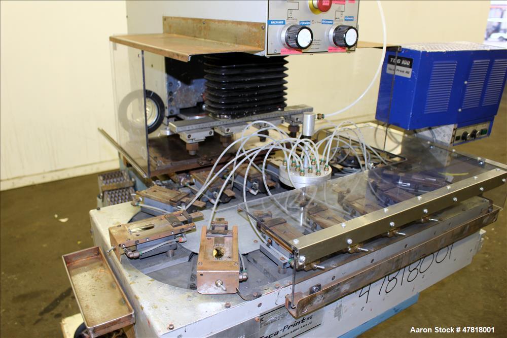 Used- Teca-Print Pad Printing Machine, Model TC 500. Maximum print 130mm diameter, print capacity approximate 1300 prints pe...