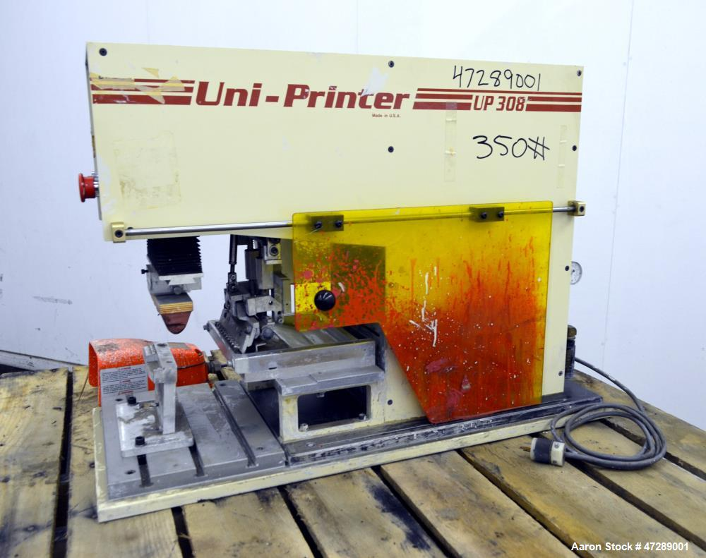 Used- United Silicone Uni-Printer Pad Printer, Model UP308.