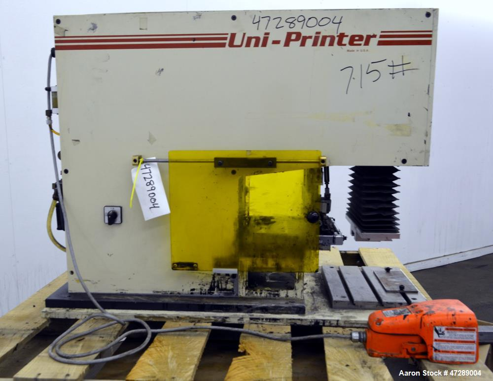 Used- United Silicone Uni-Printer Pad Printer, Model UP450T.