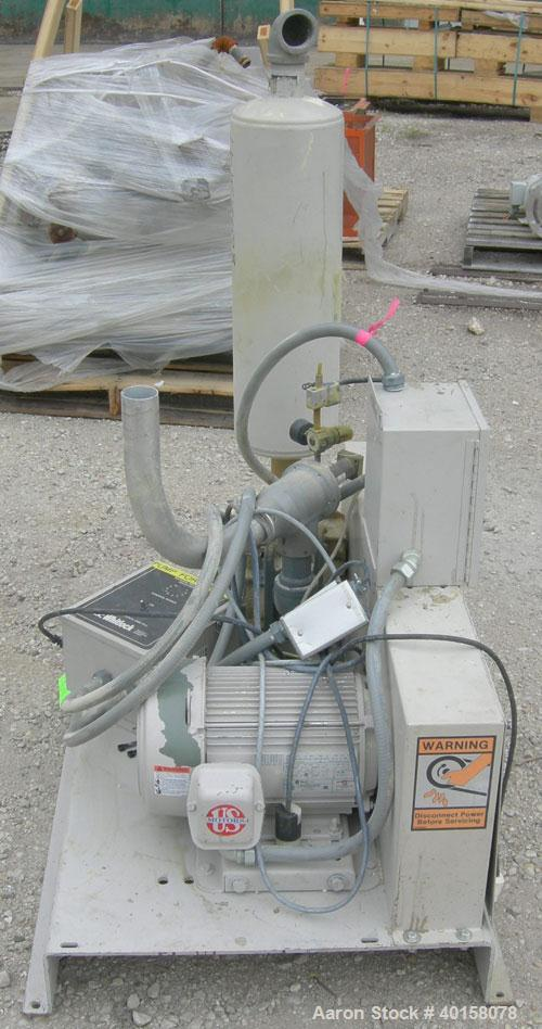 "Used- AEC Whitlock Vacuum Loader, Model VTP5. (1) Vertical blower, approximate 2 1/2"" NPT inlet/outlet. Driven by a 5 hp, 3/..."