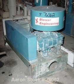 """Used- Blower Engineering Tri-Lobe Positive Displacement Blower, Model TL70, Carbon Steel, Horizontal. 5"""" NPT inlet/outlet. A..."""