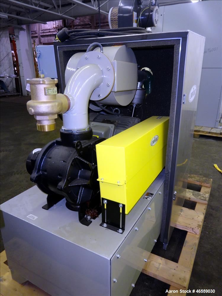 Used- Conair Central Vacuum Pump, Model PD. 201.1 CFM. (1) Roots rotary lobe blower, model 56 J RB CONAIR BLK, serial# 09029...