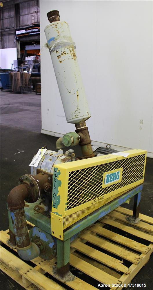 Used- Duroflow/Gardner Dever Vacuum Loading System. Consisting of (1) Duroflow positive displacement blower, model 4504VT, 4...