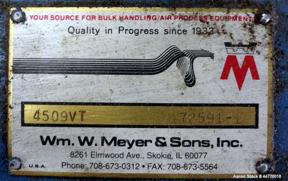 Used- Wm. W. Meyer & Sons Vacuum Conveying System, Model 4509 VT