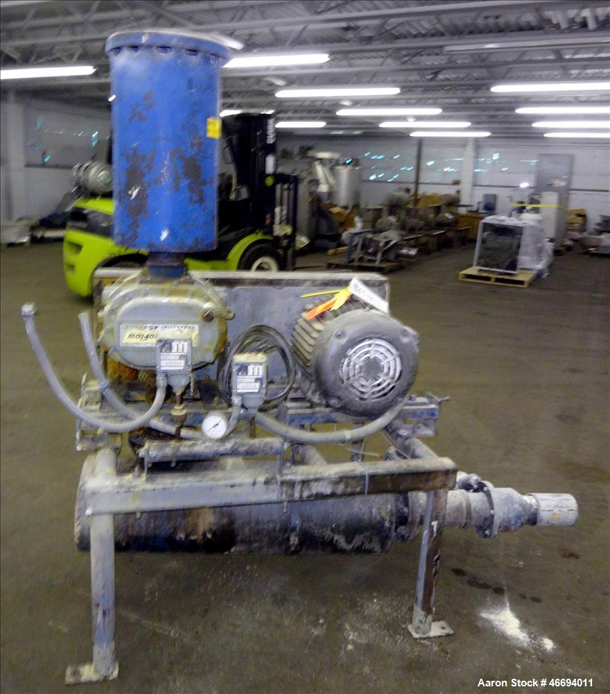 Used- Gardner Denver Dura Flow Horizontal Positive Displacement Blower, Model GGDBADA, Catalog# 4506. Approximate 214 CFM at...