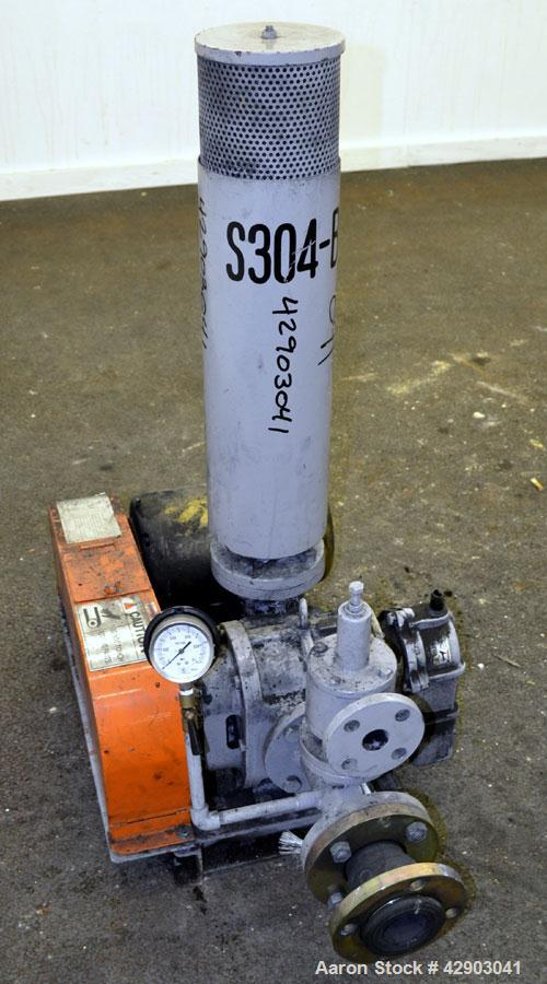 Used- ITO Engineering Rotary Positive Displacement Blower, Model IRS-65L, Carbon Steel. Approximate capacity 2 cubic meters ...