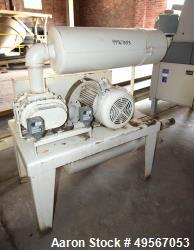 Used- Tuthill Rotary Positive Displacement Blower, Model 4606-46L2, Carbon Steel. Driven by 25 hp, 3/60/208-230/460, 1775 rp...