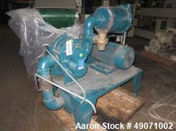 Used- Walton Stout vacuum loading system consisting of: (1) Roots blower, model 68U-RAI, serial# SR00048679. Driven by a 30h...