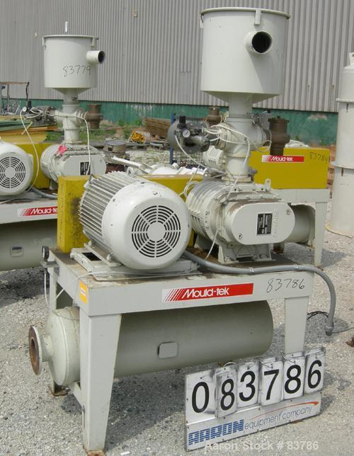 USED: Mould Tek vacuum conveying system, model VP3000, carbon steel. Consisting of (1) Sutorbilt rotary positive displacemen...