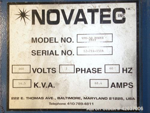 Used- Novatec Loading/Unloading System, Model VPV-50, Consisting Of: (2) Roots horizontal rotary positive displacement blowe...