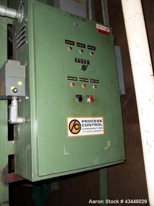 Used- Process Control Push Pull Railcar Unloding System. Includes a (2) 30hp blowers with filter and silencers, dust collect...